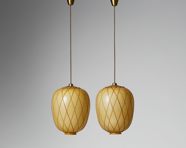 , 'Pair of ceiling lamps designed by Carl Westman, Sweden. 1920's. ,' 1920-1929, Modernity