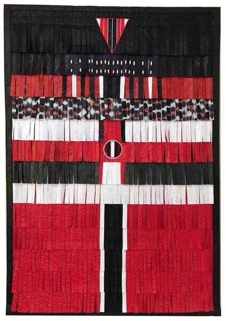 , 'Composition en noir, blanc et rouge (triante et cercle),' 2017, Primo Marella Gallery