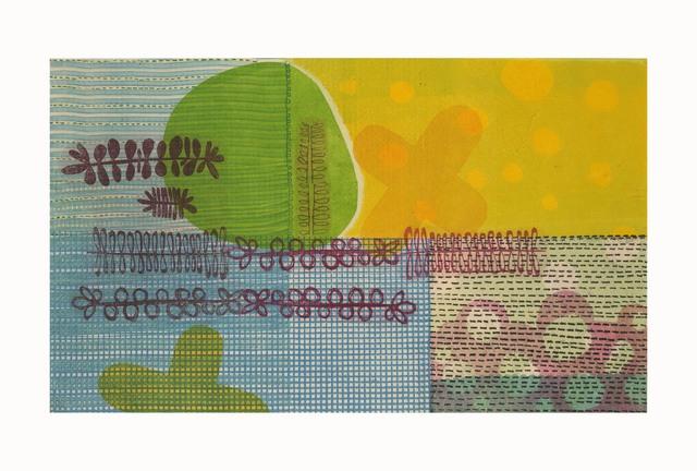 LJ Douglas, 'Nit With Wit', 2018, Print, Monotype, chine collé, Manneken Press