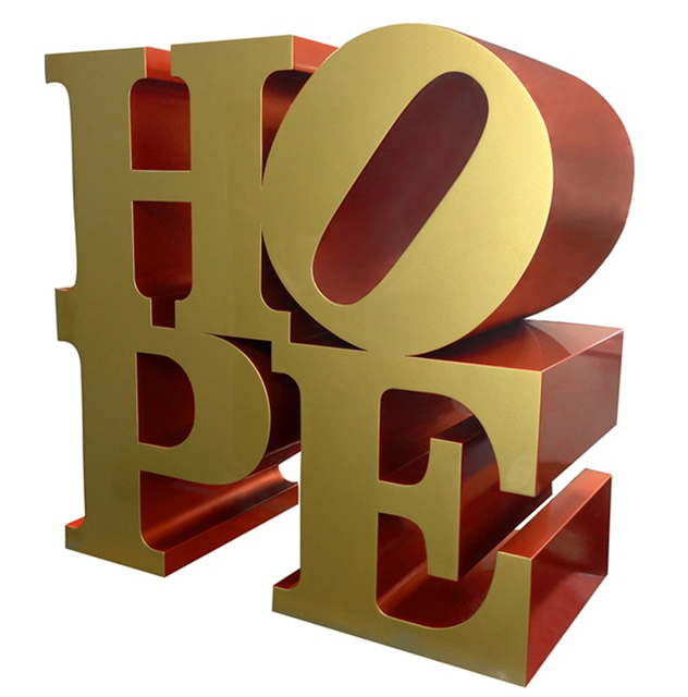 , 'Robert Indiana HOPE_Gold-Red ,' , Contini Art Gallery