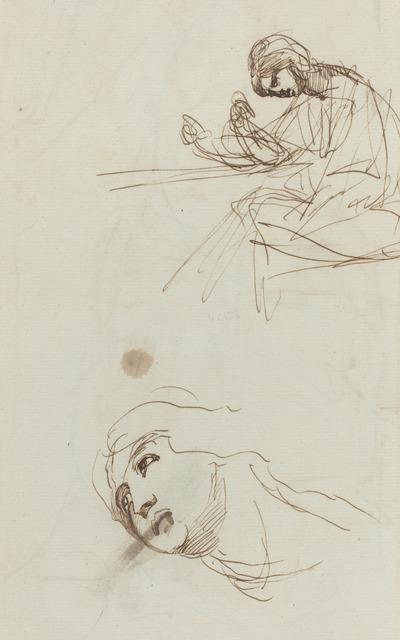 George Romney, 'Figure Studies [verso]', 1780s, National Gallery of Art, Washington, D.C.