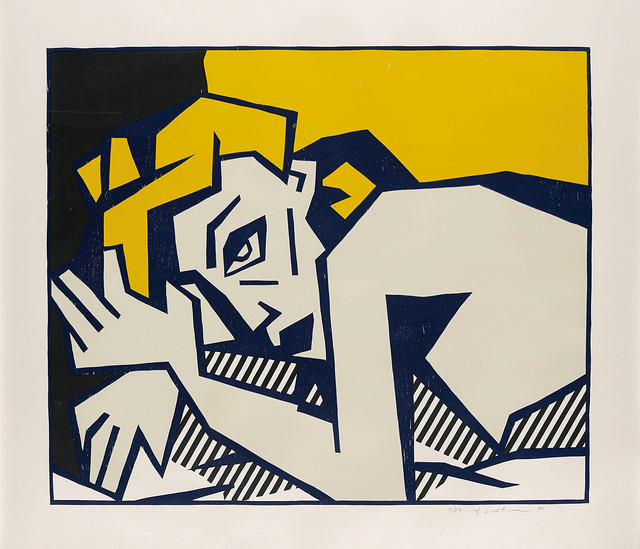 Roy Lichtenstein, 'Reclining Nude', 1980, Print, Woodcut with embossing, F.L. Braswell Fine Art