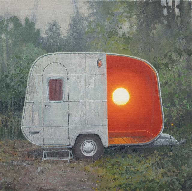 , 'White Egg Caravan,' 2016, bo.lee gallery