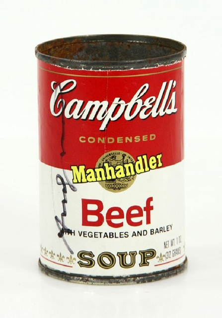 Andy Warhol, 'Campbell's Soup Can (Hand Signed by Andy Warhol at Fiorucci's for the ACE Gallery)', 1978, Alpha 137 Gallery