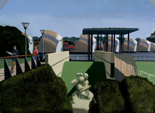 , ' Cupid and Psyche - Barrier Park,' , The Muse Gallery & Studio