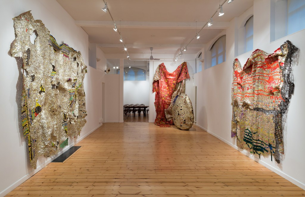 El Anatsui works at October Gallery London