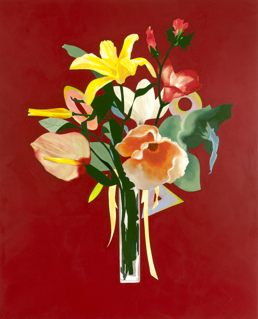 , 'Unrepentant Flowers: Solid Red,' 2016, Diane Rosenstein