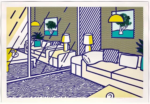 Roy Lichtenstein, 'Blue Floor', 1990, Print, Colour lithograph, woodcut and screenprint, Koller Auctions
