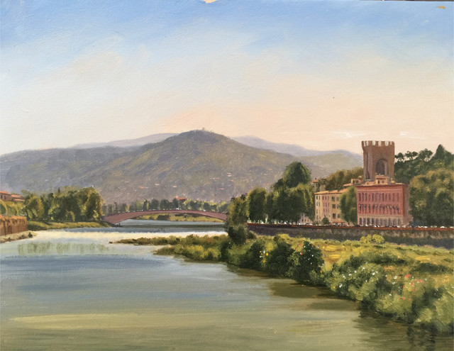 Sergio Roffo, 'Arno River, Florence', 2019, The Guild of Boston Artists