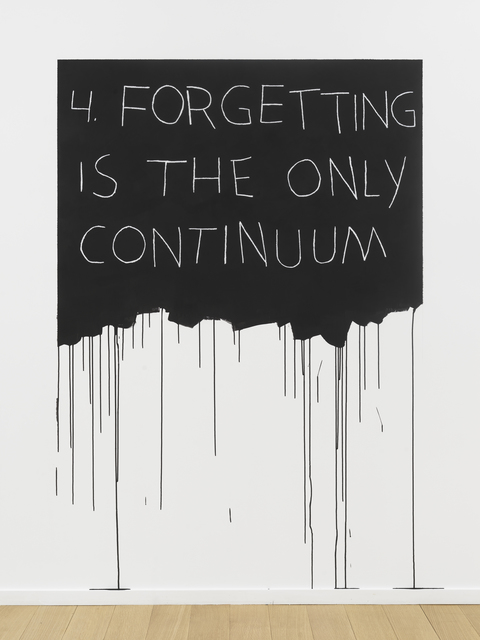 , 'Forgetting Is The Only Continuum,' 1970 / 2018, Simon Lee Gallery