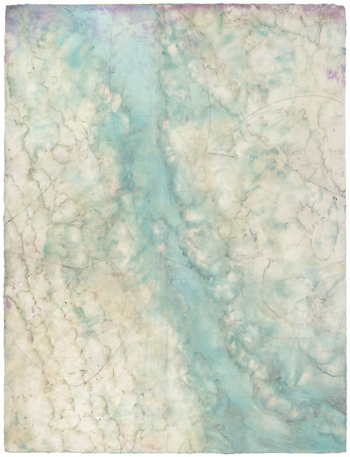 Elise Wagner, 'Glacier Stream II', 2019, Painting, Encaustic and Oil on Panel, Frederick Holmes and Company