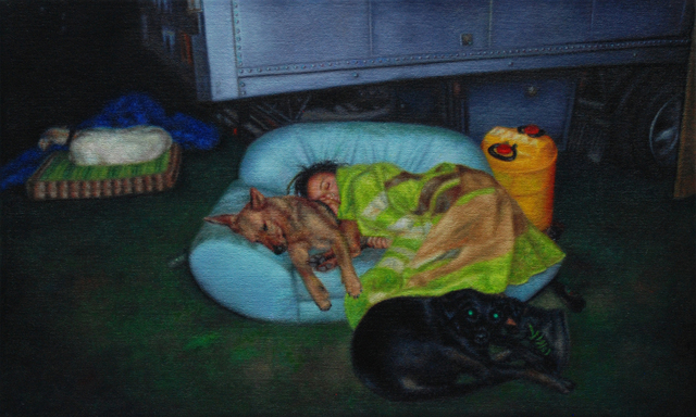 , 'Woman and dogs,' 2016, Eva Hober