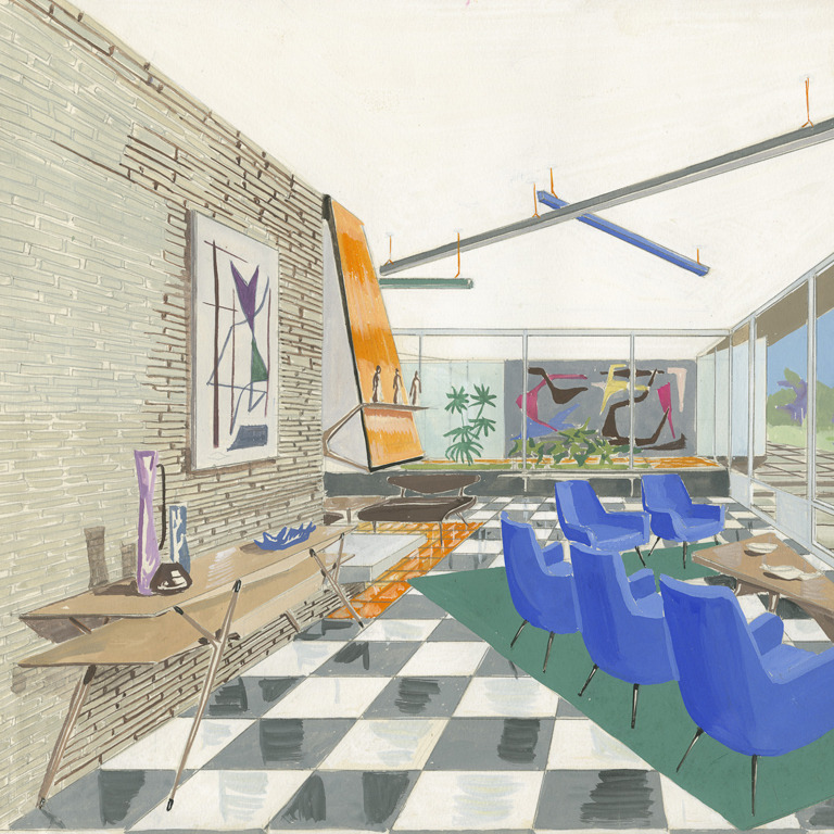 Rare collection of interior renderings