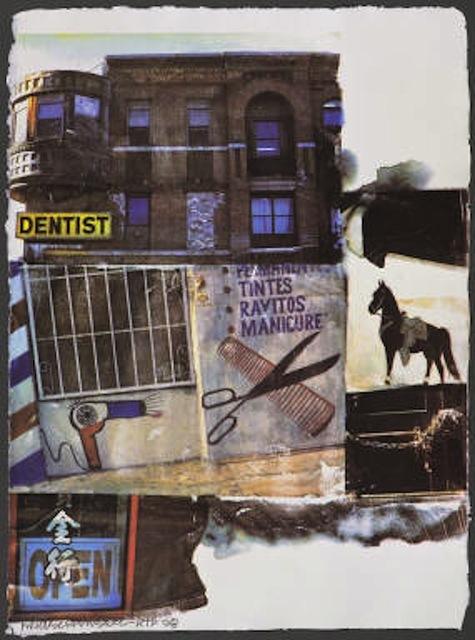 Robert Rauschenberg, 'L.A. Uncovered #10', 1998, Print, 16 color screenprint, Vertu Fine Art