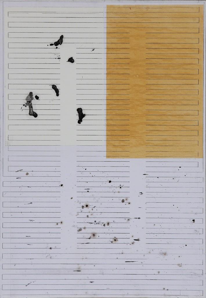 Julia Spínola 'Brazo-Túnel 1', 2015 gouache, graphite and paper collage on wood 46 x 32 cm