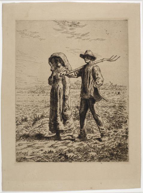 , 'Le Départ pour le travail,' 1863, Emanuel von Baeyer