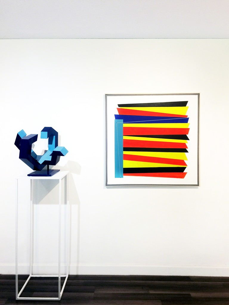 "Works by Jorge Enrique (L) and Luis Cruz Azaceta (R) | ""Shifting States"", installation view at Waltman Ortega Fine Art"