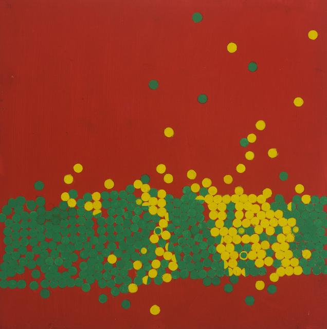 , 'Invasion III Lemon and Emerald on Scarlet,' 1970, Waterhouse & Dodd