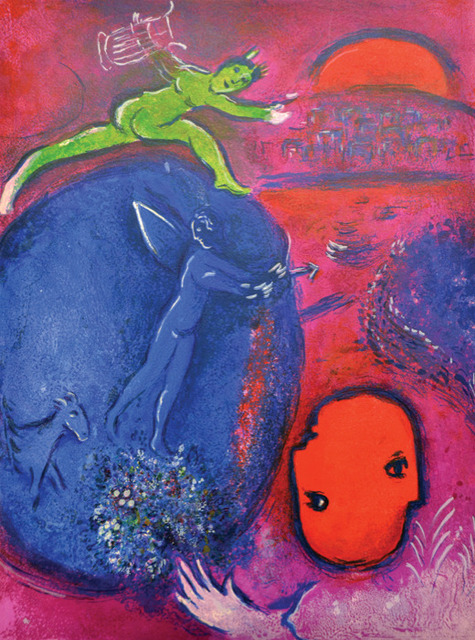 Marc Chagall, 'Lamon's and Dryas's Dream', 1961, Print, Original lithograph printed in colors on Arches wove paper., Galerie d'Orsay