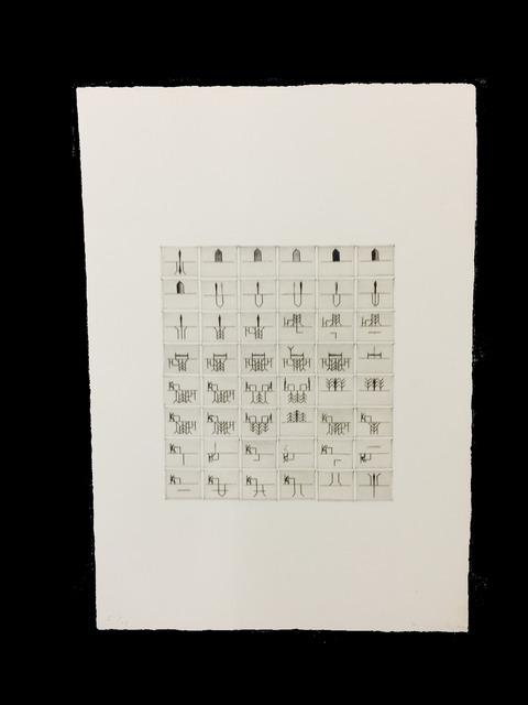 """, 'Bilderschrift nach Robert Walser """"Frau Wilke"""",' 1977, Rotwand"""