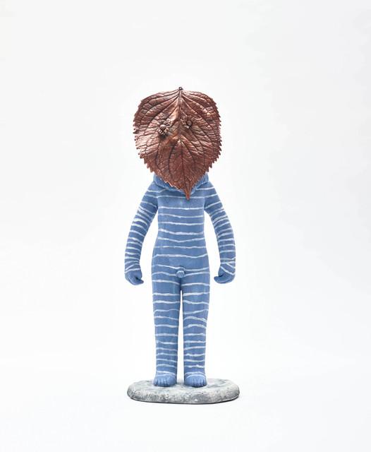 Clémentine de Chabaneix, 'Blue leafman', 2020, Sculpture, Glazed ceramic, Antonine Catzéflis