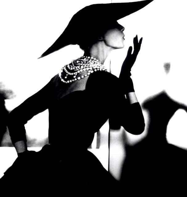 Lillian Bassman, 'Barbara Mullen, (Blowing Kiss Variant), Harper's Bazaar', ca. 1950, Photography, Gelatin silver print, Peter Fetterman Gallery