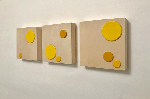 , '[ Sun ] SPOTS #2 Triptych (for Yayoi Kusama) ,' 2017, Spotte Art