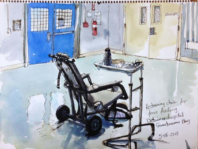 , '5/16/13, Restraining chair for force feeding, Detainee hospital, Guantanamo Bay, Cuba,' 2013, Postmasters Gallery