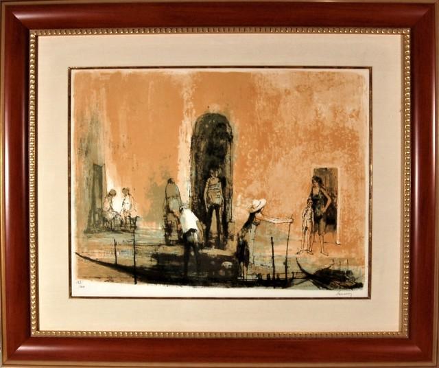 Jean Jansem, 'Les Quais a Venise', 1966, Joseph Grossman Fine Art Gallery