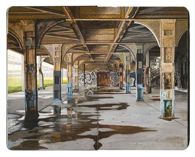 , 'Oakland Train Station,' 2017, Spoke Art