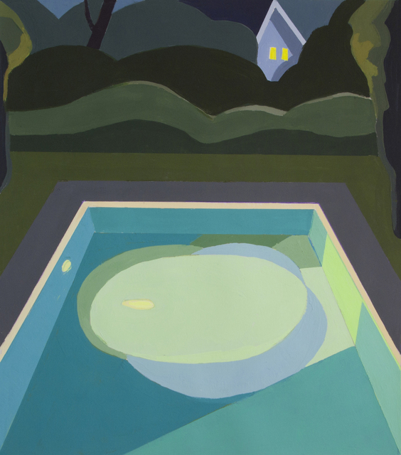 , 'Night Pool II,' 2018, Bowery Gallery