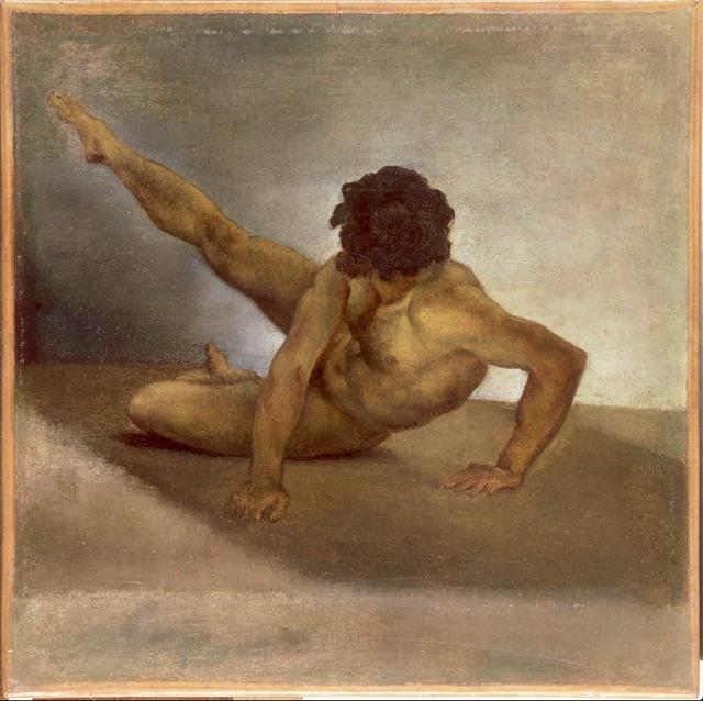 Théodore Géricault, 'Homme nu renversé sur le sol (Man overthrown to the ground)', Musée Magnin