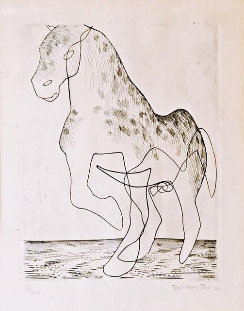 Stanley William Hayter, 'Big Horse (Black & Moorhead 46)', 1932, Print, Engraving & Drypoint on antique white Canson Vidalon laid paper, Alpha 137 Gallery
