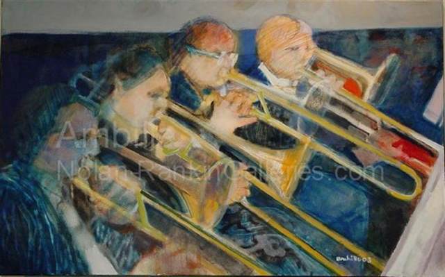 , 'Les Trombones Bleus,' 2003, Nolan-Rankin Galleries
