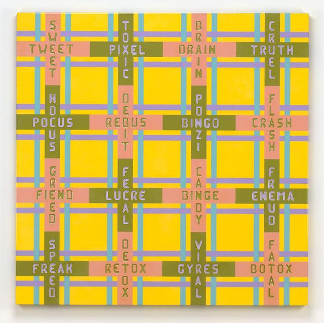 , 'Tartan Wordcross 5/ Cruel Truth,' 2011, Turner Carroll Gallery