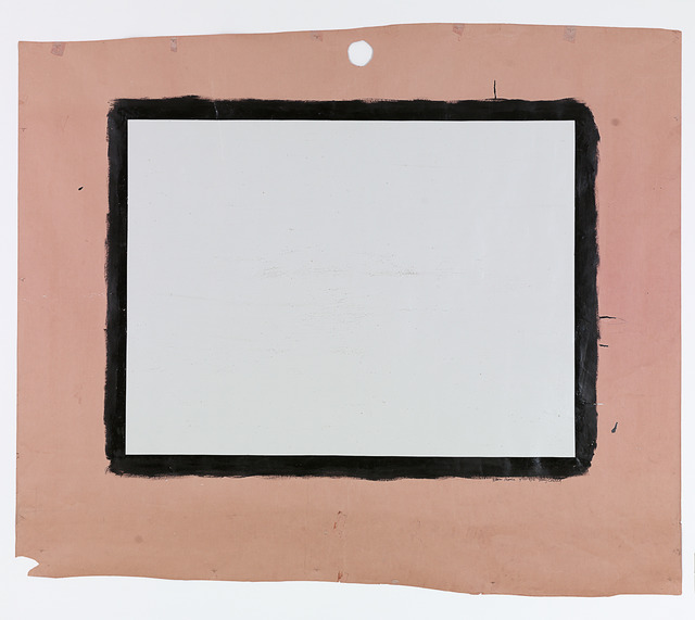 Tony Conrad, 'Yellow Movie 2/23-24/73', 1973, Painting, Emulsion: Sterling gray low lustre enamel (water base), thick textured; base: Dusty rose seamless paper, ICA Philadelphia