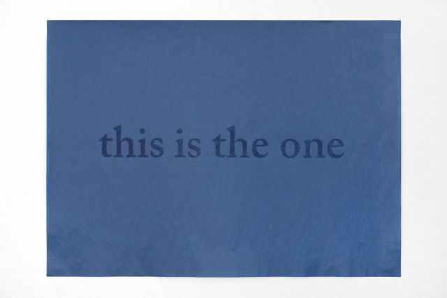 , 'this is the one,' 2015, PDX CONTEMPORARY ART