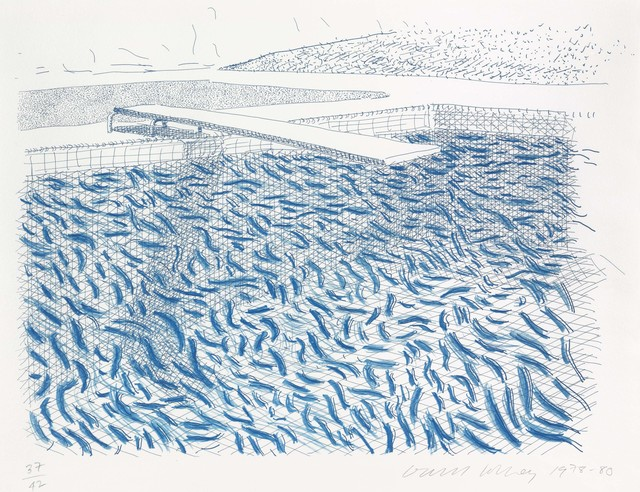 David Hockney, 'Lithographic Water made of lines and crayon', 1980, Christie's