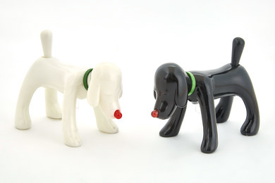 Shinning Doggy (Black and White, set of Two)