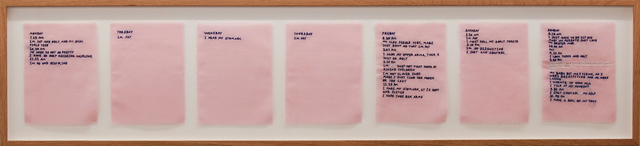 , 'Pink Slip #4 (Logbook Of Nigatif Thorts),' 2017, Galleri Tom Christoffersen