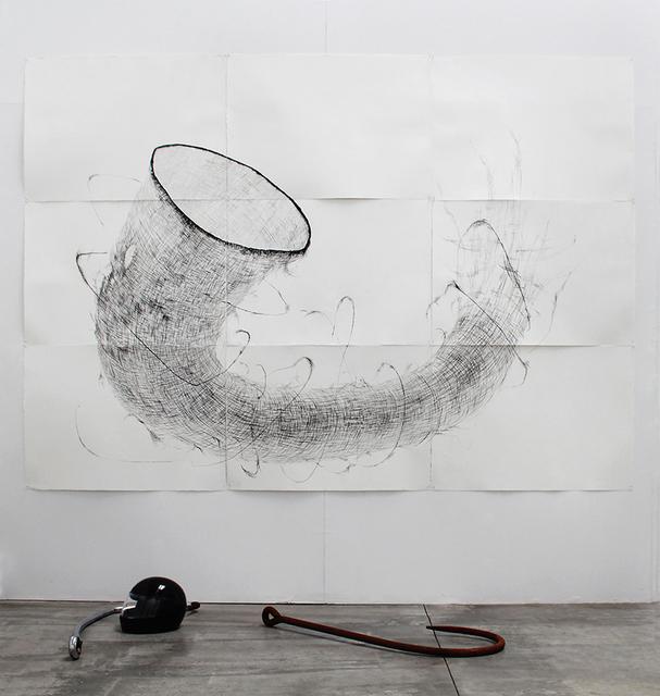 , 'Malla osamenta con casco, sal y anzuelos,' 2015, Barro Arte Contemporáneo