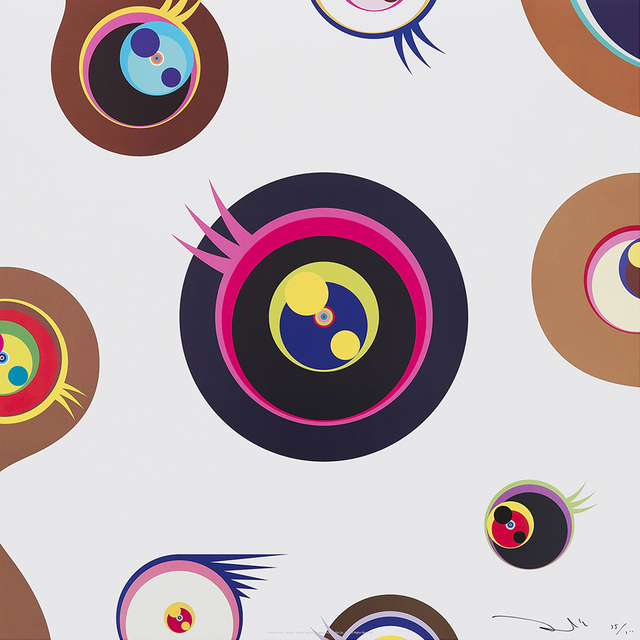 Takashi Murakami, 'Jellyfish Eyes - White 1 ', 2006, Print, Mixed Media Print, Galerie Raphael