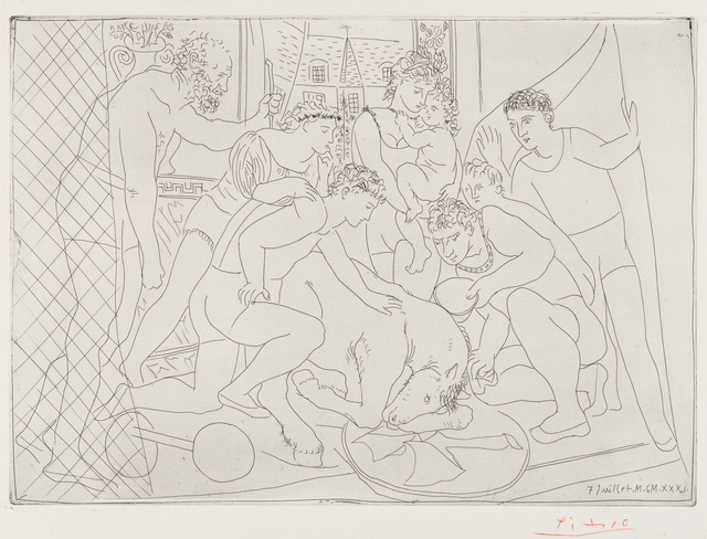 Pablo Picasso, 'Dying Horse Surrounded by a Family of Acrobats', 1931, Christopher-Clark Fine Art
