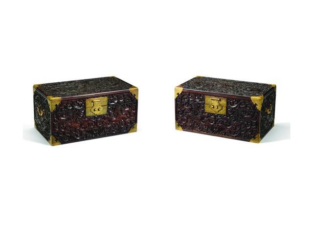 , 'A pair of zitan book chests,' Qing dynasty, Qianlong period (1735, 1796), Liang Yi Museum