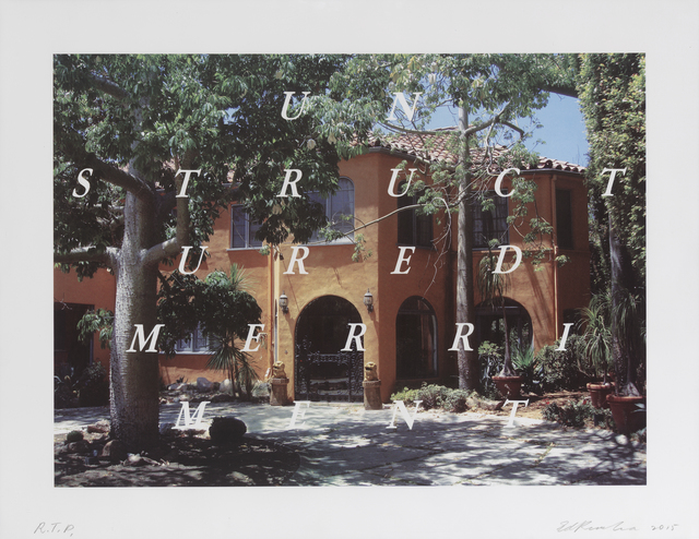 Ed Ruscha, 'Unstructured Merriment', 2016, Gemini G.E.L. at Joni Moisant Weyl