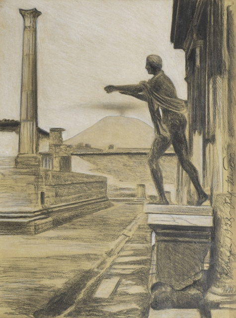 Richard Müller, 'Pompeii', 1928, Drawing, Collage or other Work on Paper, Black chalk, Day & Faber