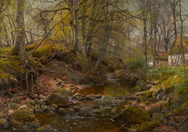 Peder Mork Monsted, 'A Forest Stream', 1905,  M.S. Rau Antiques