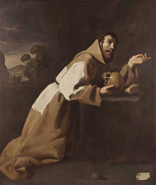 , 'San Francisco en meditación (Saint Francis in Meditation),' 1639, Museo Thyssen-Bornemisza