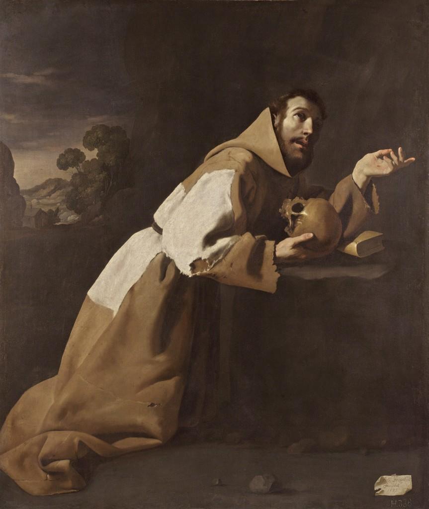 Francisco de Zurbarán, 'San Francisco en meditación (Saint Francis in Meditation),' 1639, Museo Thyssen-Bornemisza