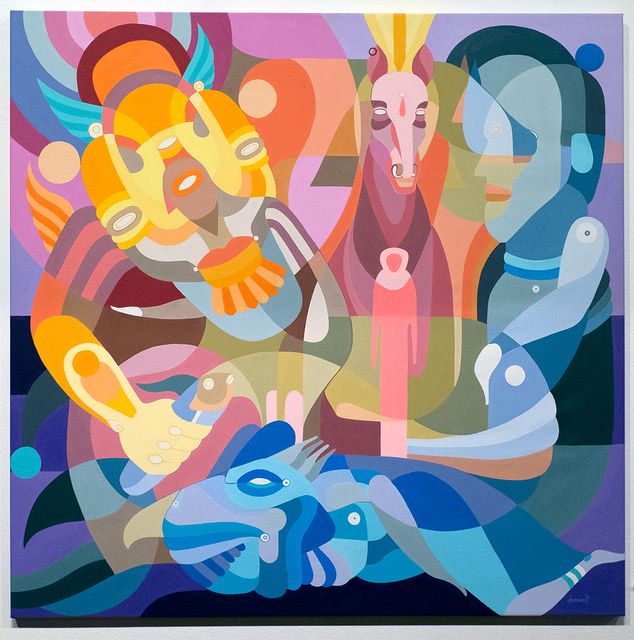 Fernando Chamarelli, 'Arquetipo do Cavalo (Horse Archetype)', 2017, Painting, Acrylic on canvas, ANNO DOMINI